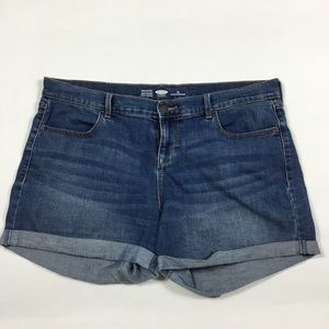 Old Navy Cuffed Jean Shorts Womens Size 14
